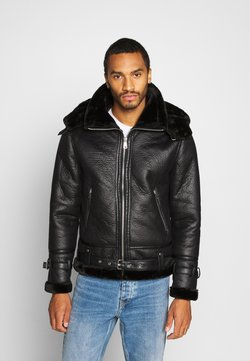 Redefined Rebel - BENTON JACKET - Kunstlederjacke - black