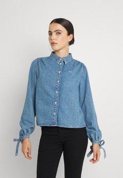 Tommy Jeans - BLOUSE - Overhemdblouse - denim medium