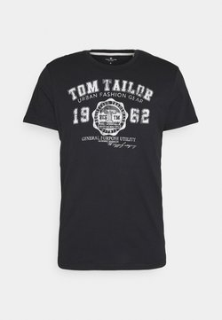 TOM TAILOR - LOGO TEE - T-shirt z nadrukiem - almost black