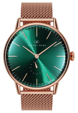 August Berg - UHR SERENITY GREENHILL MESH 40MM - Montre - sunray green