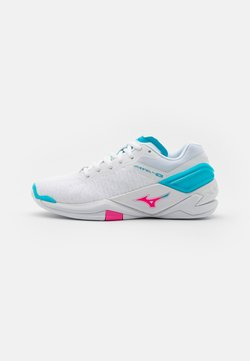 Mizuno - WAVE NEO - Käsipallokengät - white/pink glo/blue atoll