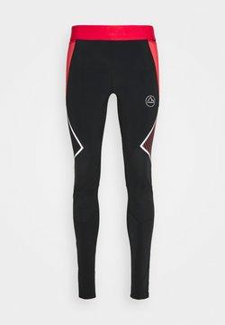 La Sportiva - PIRR PANT  - Tights - black/hibiscus