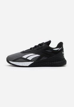 Reebok - NANO X - Kuntoilukengät - black/white