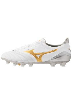 Mizuno - MORELIA NEO KL II - Moulded stud football boots - white/gold