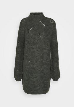 Noisy May - NMEDEN HIGH NECK DRESS  - Jumper dress - dark grey melange
