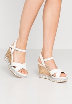 New Look Wide Fit - WIDE FIT PANCY RAND WEDGE - Sandaletter - white