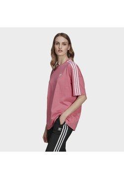adidas Originals - OVERSIZED ADICOLOR RELAXED - T-Shirt print - rose tone