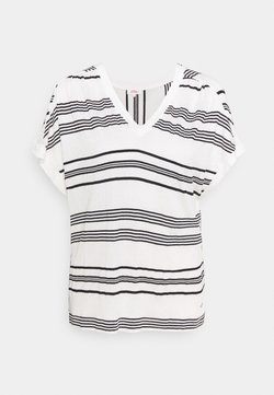 s.Oliver - KURZARM - T-Shirt print - offwhite