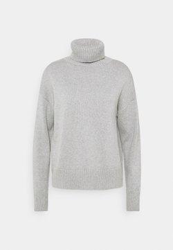 GAP - CROP OVERSIZED TNECK - Stickad tröja - heather grey