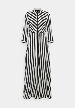 YAS - YASSAVANNA LONG DRESS - Maxi-jurk - black/ white stripes