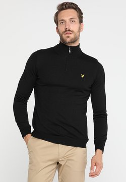 Lyle & Scott - GOLF QUARTER ZIP - Strickpullover - true black