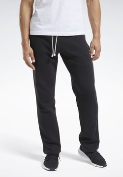 Reebok - TRAINING ESSENTIALS FLEECE JOGGERS - Jogginghose - black