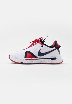 Nike Performance - PG 4 - Basketball shoes - white/obsidian/university red