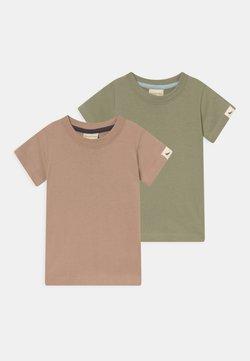 Turtledove - 2 PACK UNISEX - Camiseta básica - brown/green