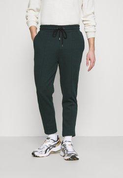 Topman - CHECK JOGGER - Jogginghose - green