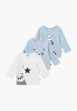Jacky Baby - PANDA LOVE 3 PACK - Longsleeve - blue/white