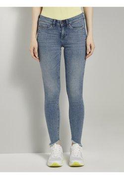 TOM TAILOR DENIM - TOM TAILOR DENIM JEANSHOSEN JONA EXTRA-SKINNY JEANS MIT FRANSEN - Jeans Skinny Fit - used mid stone blue denim