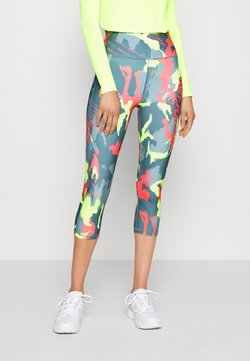 ONLY PLAY Tall - ONPALECXIA LIFE TIGHT - Legging - goblin blue/safety yellow