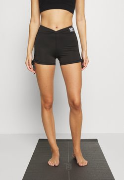 HIIT - LUCKY RUCHED SHORT - Trikoot - black