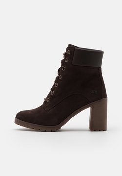Timberland - ALLINGTON 6 IN LACE UP - High heeled ankle boots - dark brown