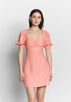 Glamorous - CUT OUT PUFF SLEEVE DRESS - Kjole - pink