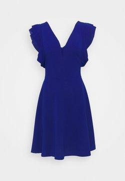 WAL G TALL - V NECK FRILL SLEEVE DRESS - Vestido de cóctel - cobalt blue