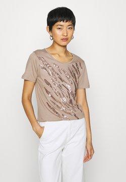 Cream - LEEVA - T-Shirt print - taupe gray