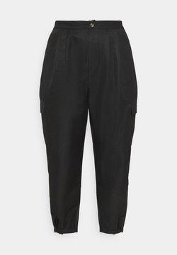 Missguided Plus - BALLOON UTILITY TROUSERS - Pantalon classique - black