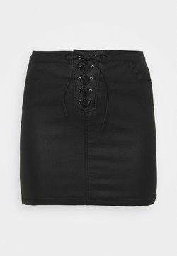 Missguided Plus - COATED SKIRT - Minirock - black