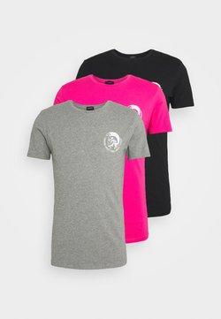 Diesel - UMTEE RANDAL 3 PACK - Camiseta básica - black/pink/grey melange