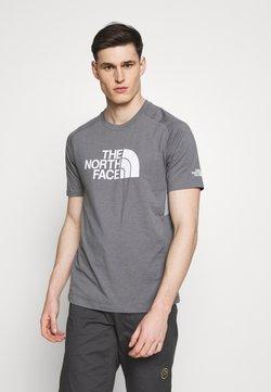 The North Face - MENS WICKER GRAPHIC CREW - T-shirt z nadrukiem - medium grey heather/white