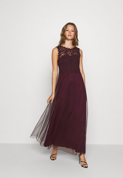 Vila - VILYNNEA MAXI DRESS - Ballkleid - winetasting