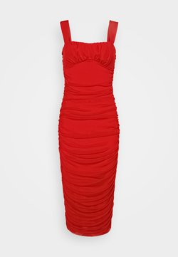 Nly by Nelly - SHAPED BUST DRESS - Cocktailkleid/festliches Kleid - red