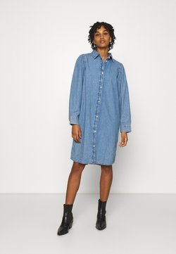 Monki - ELENA DRESS - Denim dress - blue medium dusty