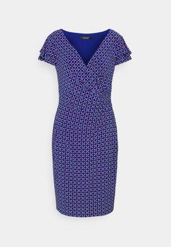 Lauren Ralph Lauren - PRINTED MATTE DRESS - Vestido de tubo - french ultramarin
