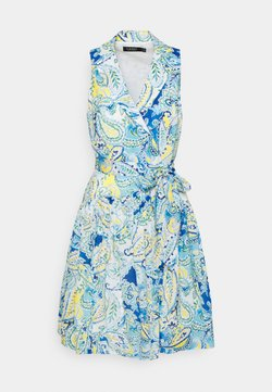 Lauren Ralph Lauren - NIELSEN SLEEVELESS DAY DRESS - Freizeitkleid - cream/blue/multi