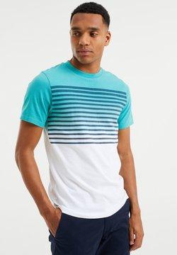 WE Fashion - GESTREEPT  - T-Shirt print - mint green