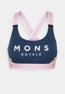 Mons Royale - STELLA X BACK BRA - Sport-BH mit leichter Stützkraft - dark denim/powder pink