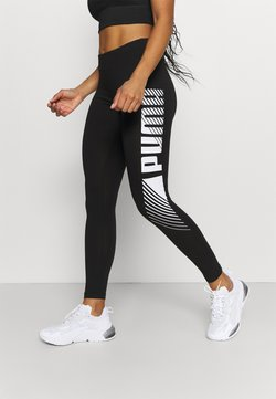 Puma - GRAPHIC LEGGINGS - Tights - black