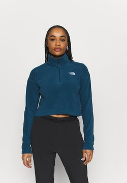The North Face - GLACIER CROPPED ZIP - Fleecepullover - monterey blue