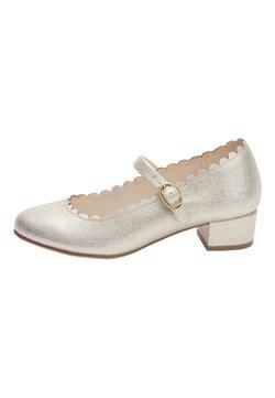Next - GOLD SCALLOPED MARY JANE HEELS (OLDER) - Ballerinat nilkkaremmillä - gold