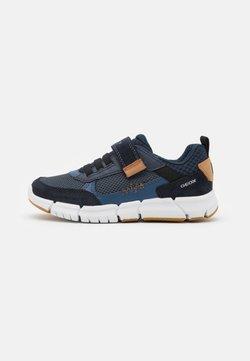 Geox - FLEXYPER BOY - Sneaker low - navy/cognac