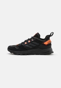 adidas Performance - TERREX HIKSTER LOW - Hiking shoes - core black/dough solid grey/signal organge