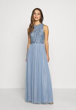 Lace & Beads Petite - PICASSO DRESS - Galajurk - blue