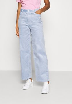 Weekday - LASHES TROUSERS - Pantalones - light blue