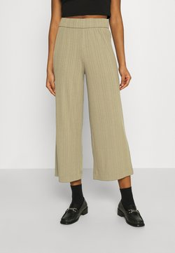 Monki - CILLA TROUSERS - Kangashousut - khaki green/medium dusty