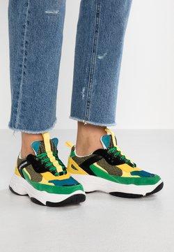 Calvin Klein Jeans - MAYA - Trainers - black/green/lemon