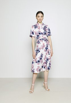 Vila - VIALA MIDI DRESS - Vestido camisero - cloud dancer/watercolor
