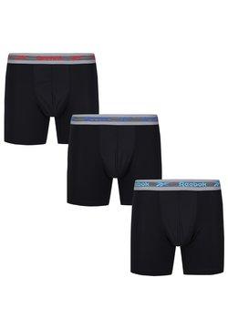 Reebok - HEMERY 3 PACK - Bokserit - black aqua red blue grey waistbands