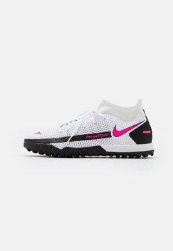 Nike Performance - PHANTOM GT ACADEMY DF TF - Fußballschuh Multinocken - white/pink blast/black